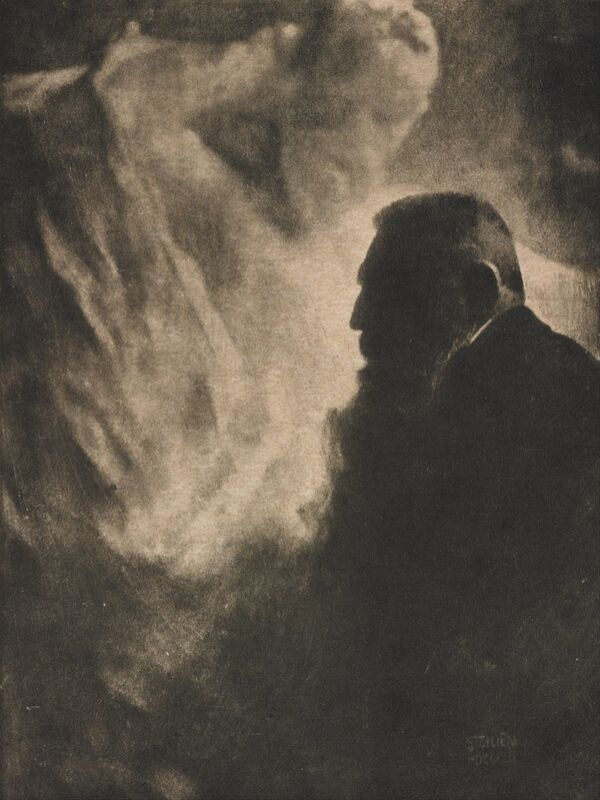 Portrait of Rodin. Photoengraving in Camera Work - Edward Steichen 1902 from Aux Beaux-Arts Decor Image