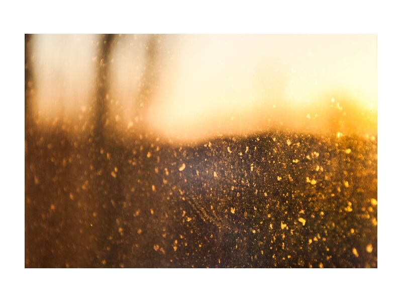 Quand le silence est d'Or from Marie Guibouin, Prodi Art, silence, gold, stars, yellow, marie guibouin, blurry, golden, nuggets, abstract art, soft focus