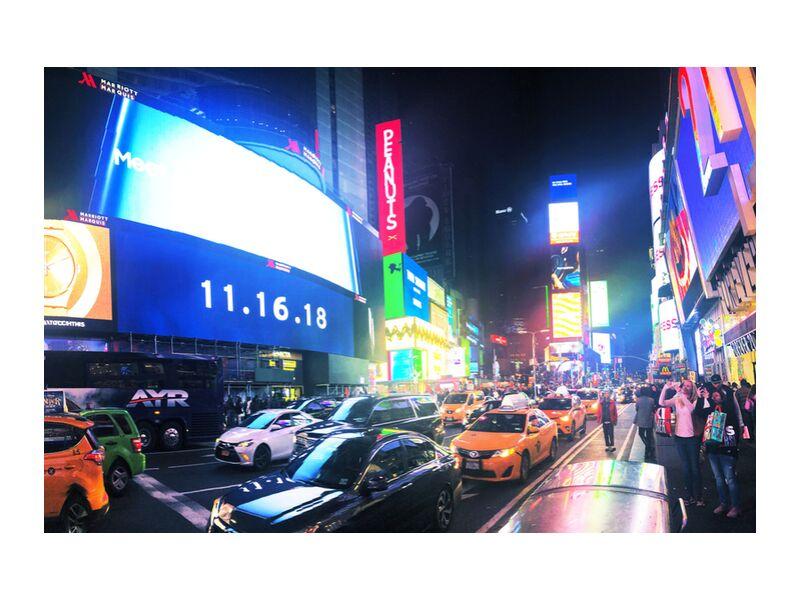 Times Square de Cyril Jourdan, Prodi Art, nuit, Urbain, New York, ville, ville, Times Square, Etat Unis