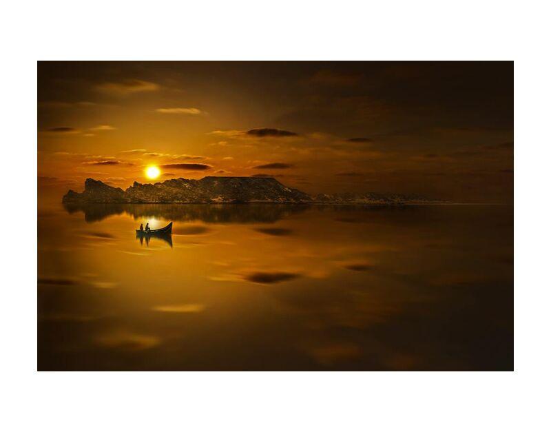 Golden water from Aliss ART, Prodi Art, golden sunset, water, sunset, Sun, silhouette, seashore, seascape, sea, reflection, ocean, Morocco, light, landscape, lake, evening, dusk, dawn, boat, beach, backlit
