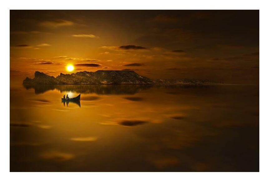 مياه ذهبية from Aliss ART, Prodi Art, golden sunset, water, sunset, Sun, silhouette, seashore, seascape, sea, reflection, ocean, Morocco, light, landscape, lake, evening, dusk, dawn, boat, beach, backlit