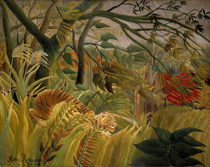 Tiger in a Tropical Storm from AUX BEAUX-ARTS Decor Image