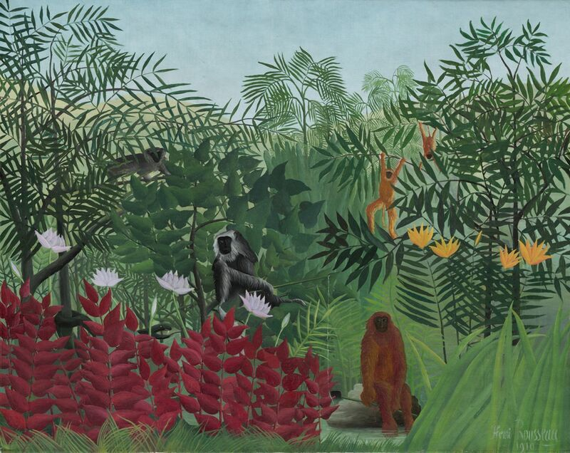 Tropical forest with monkeys from Aux Beaux-Arts Decor Image