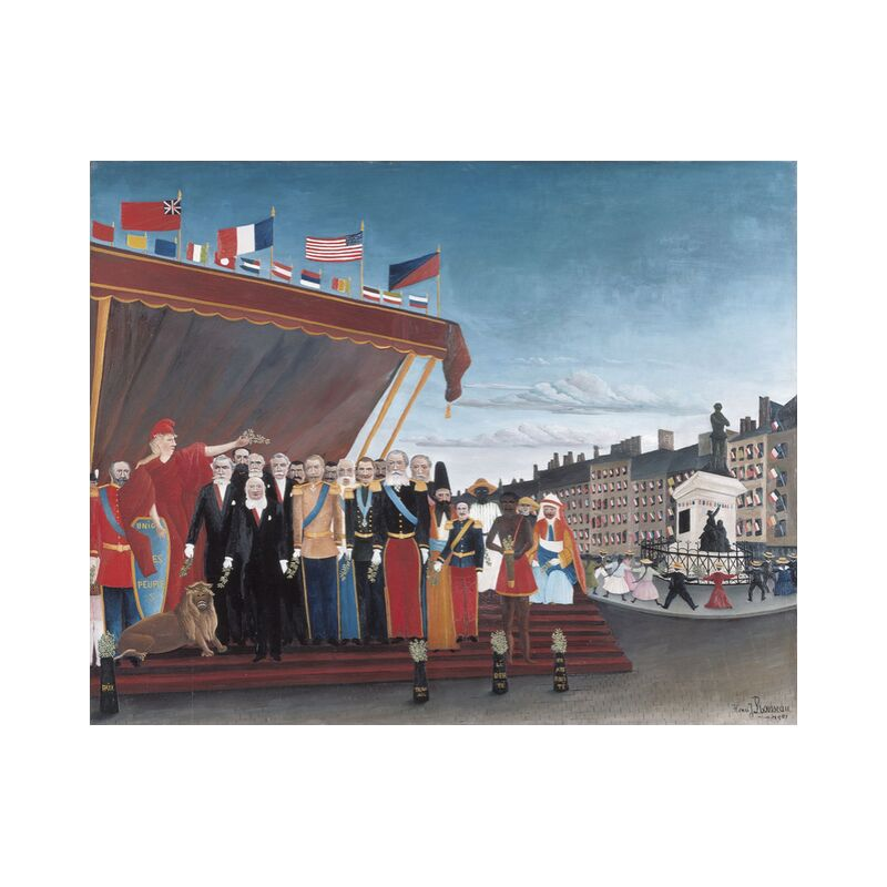 The Representatives of Foreign Powers Coming to Salute the Republic as a Sign of Peace from AUX BEAUX-ARTS, Prodi Art, foreign powers, country, painting, city, rousseau