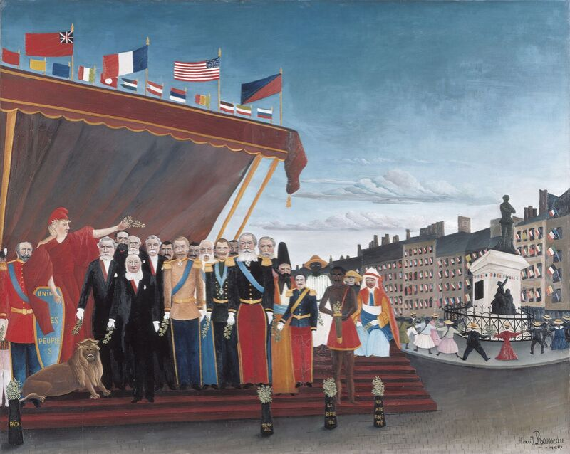 The Representatives of Foreign Powers Coming to Salute the Republic as a Sign of Peace from AUX BEAUX-ARTS Decor Image