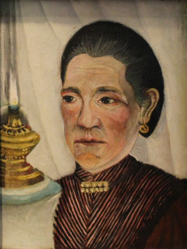 Portrait of the artist's second wife with a lamp from Aux Beaux-Arts Decor Image