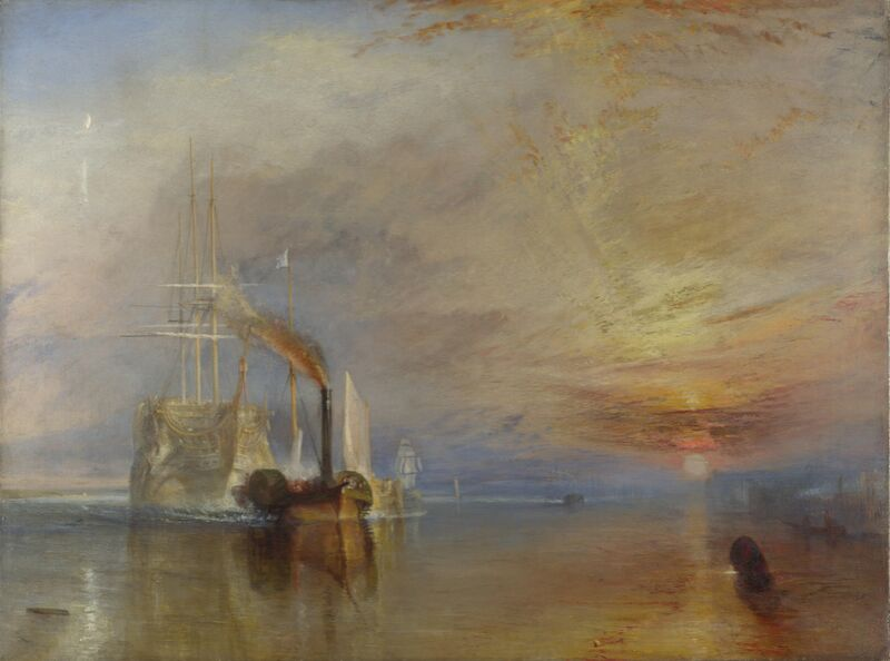 The Fighting Temeraire - WILLIAM TURNER 1883 from Aux Beaux-Arts Decor Image