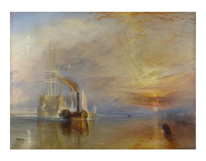 The Fighting Temeraire - WILLIAM TURNER 1883 desde AUX BEAUX-ARTS, Prodi Art, WILLIAM TURNER, reflexión, pintura, sol, nubes, cielo, mar, barco