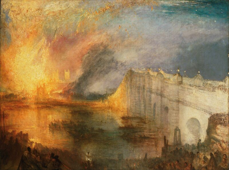The Burning of the Houses of Lords and Commons - WILLIAM TURNER 1834 desde AUX BEAUX-ARTS Decor Image