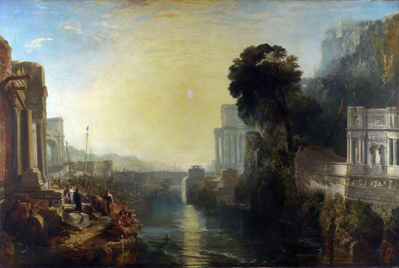 Didon construisant Carthage - WILLIAM TURNER 1815 de Aux Beaux-Arts Decor Image