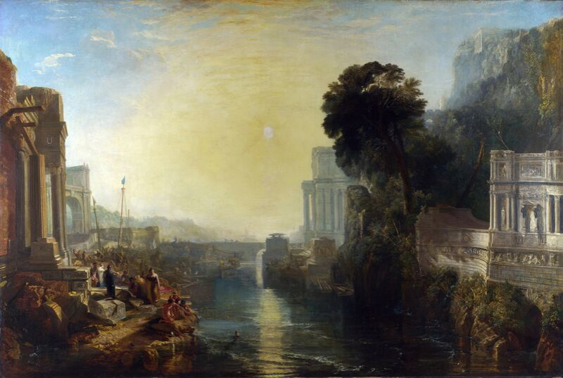 Dido Building Carthage - WILLIAM TURNER 1815 from AUX BEAUX-ARTS Decor Image