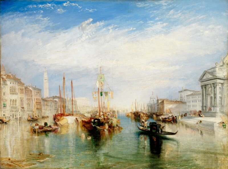 Venice, from the Porch of Madonna della Salute - WILLIAM TURNER 1835 from Aux Beaux-Arts Decor Image