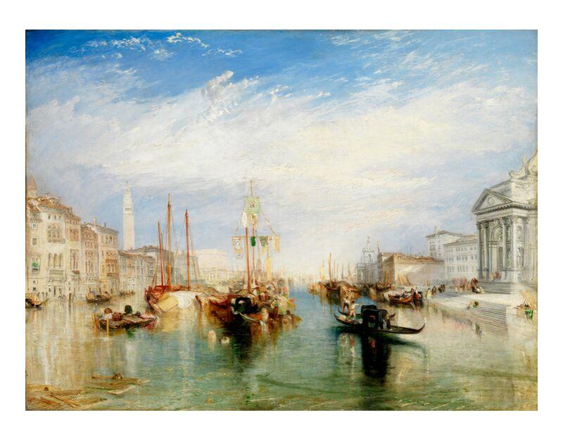 Venice, from the Porch of Madonna della Salute - WILLIAM TURNER 1835 desde AUX BEAUX-ARTS, Prodi Art, gran canal, pintura, WILLIAM TURNER, nubes, azul, cielo, Italia, Venecia