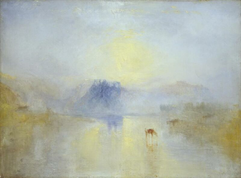 Norham Castle, Sunrise - WILLIAM TURNER 1845 from AUX BEAUX-ARTS Decor Image