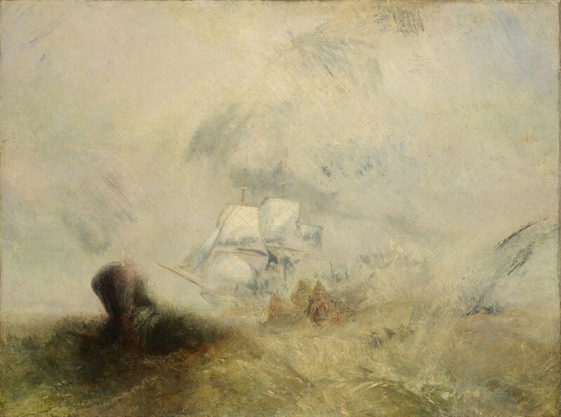 Whalers - WILLIAM TURNER 1840 from Aux Beaux-Arts Decor Image
