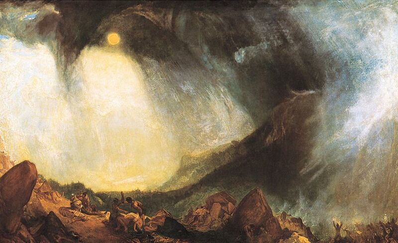 Snow Storm: Hannibal and his army crossing the Alps - WILLIAM TURNER 1812 desde AUX BEAUX-ARTS Decor Image