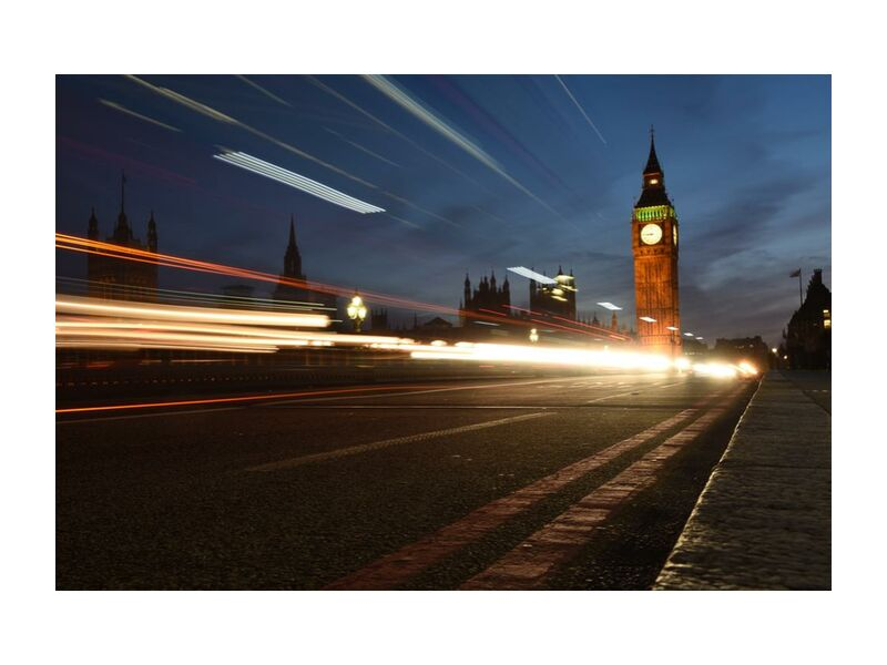 Big ben, hors du temps from Aliss ART, Prodi Art, architecture, blur, blurry, building, city, evening, lights, london, long-exposure, road, street, time lapse, traffic, Urban, , blurred, light streaks, night photography