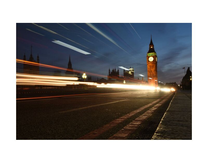 بيغ بن ، خارج الوقت from Aliss ART, Prodi Art, night photography, light streaks, big ben, Urban, traffic, time-lapse, street, road, long-exposure, london, lights, evening, city, building, blurry, blur, architecture
