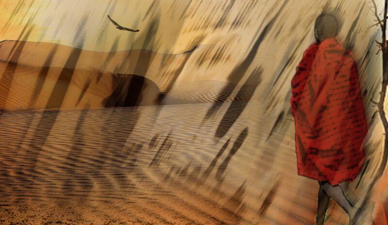 The march of Maasai from Adam da Silva Decor Image