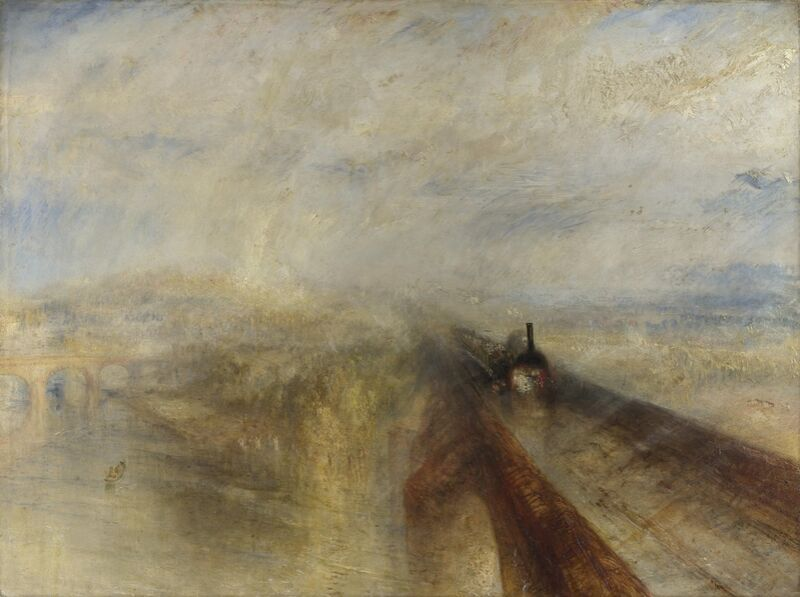 Rain, Steam and Speed – The Great Western Railway - WILLIAM TURNER 1844 from Aux Beaux-Arts Decor Image