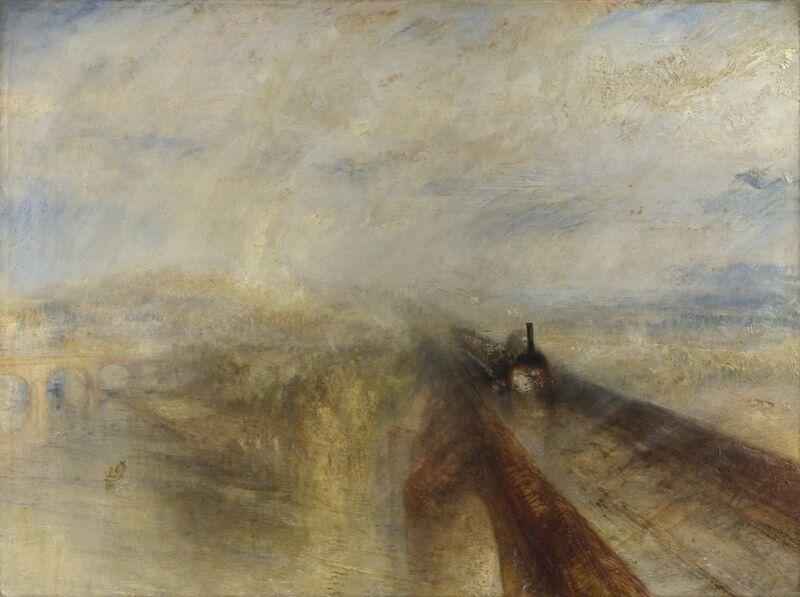 Pluie, Vapeur et Vitesse - Le Grand Chemin de Fer de l'Ouest - WILLIAM TURNER 1844 de Aux Beaux-Arts Decor Image