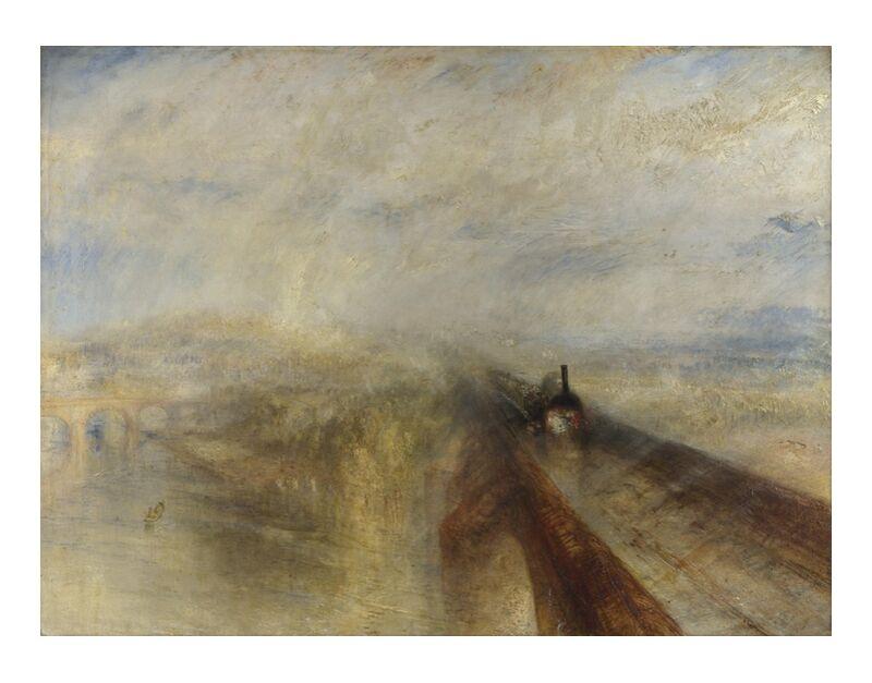 Rain, Steam and Speed – The Great Western Railway - WILLIAM TURNER 1844 desde AUX BEAUX-ARTS, Prodi Art, Oeste, vapor, pintura, WILLIAM TURNER, ferrocarril, velocidad, lluvia