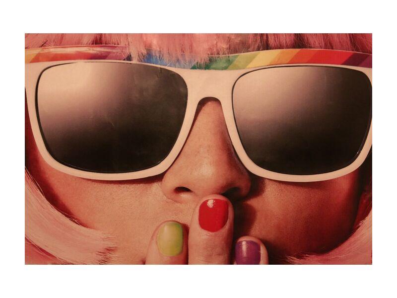 Carnival retro from Pierre Gaultier, Prodi Art, sunglasses, retro, nail varnish, woman, 70s, model, fashion, girl, face, lady, elegant, female, style, colors