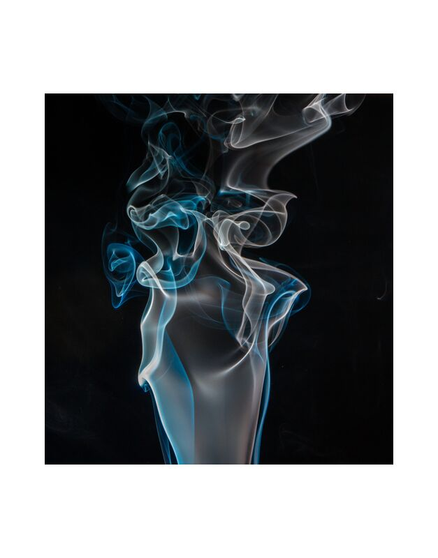 Digital smoke from Pierre Gaultier, Prodi Art, blue, close-up, dark, white, abstract  black background, curve, form, smoke