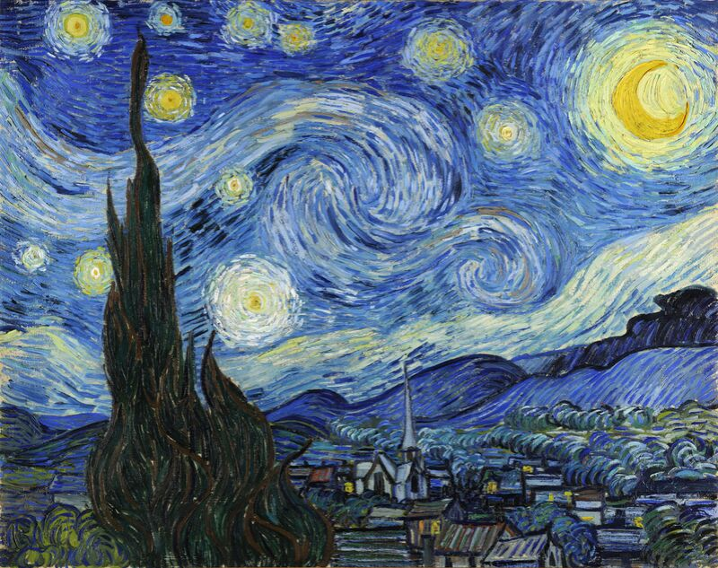 The Starry Night - VINCENT VAN GOGH 1889 from Aux Beaux-Arts Decor Image