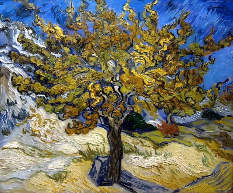 Mulberry Tree at  Saint-Rémy - 1889 VINCENT VAN GOGH desde AUX BEAUX-ARTS Decor Image