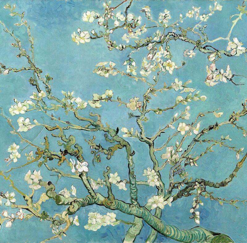 Almond Blossom, Saint-Rémy - VINCENT VAN GOGH 1890 from Aux Beaux-Arts Decor Image