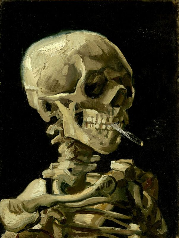 Head of a Skeleton with a Burning Cigarette - VINCENT VAN GOGH from Aux Beaux-Arts Decor Image