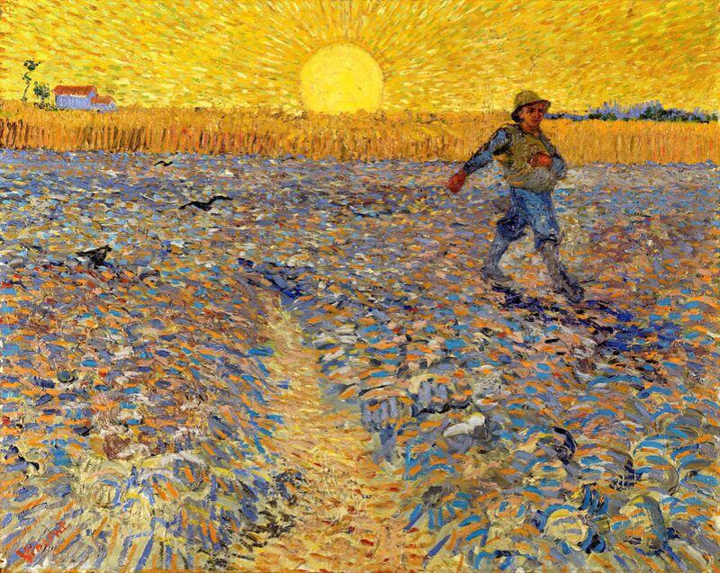 Sower at Sunset - VINCENT VAN GOGH 1888 desde AUX BEAUX-ARTS Decor Image