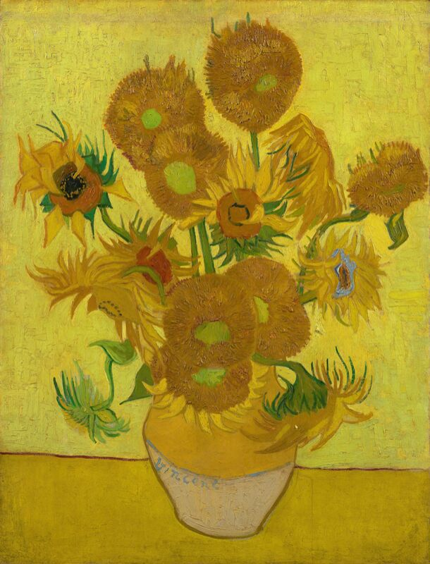 Sunflowers - VINCENT VAN GOGH 1889 from Aux Beaux-Arts Decor Image
