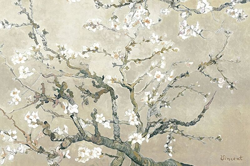 Almond Branches in Bloom, San Remy - VINCENT VAN GOGH 1890 from Aux Beaux-Arts Decor Image