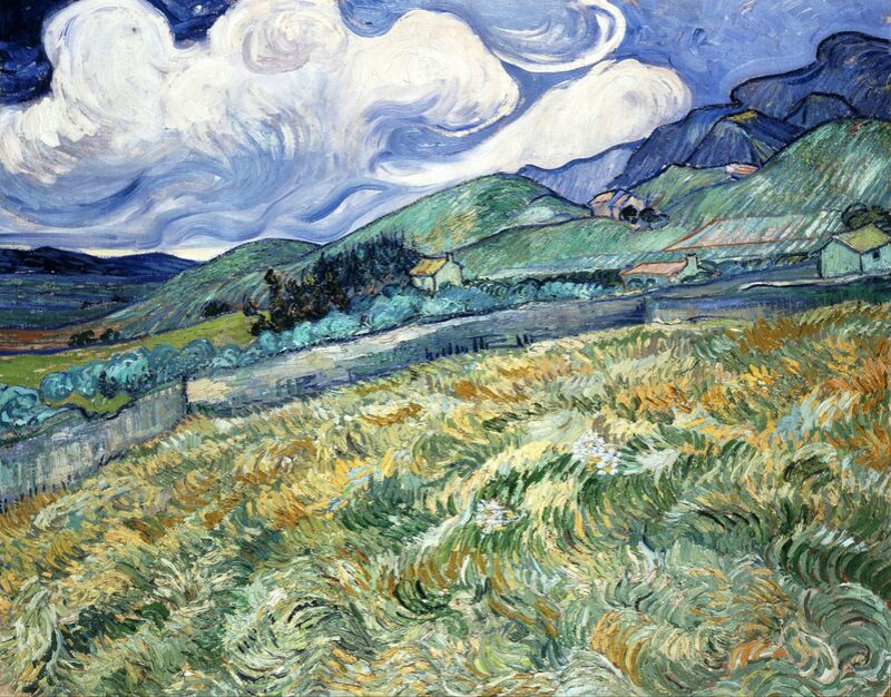 Landscape at Saint-Rémy - VINCENT VAN GOGH 1889 desde AUX BEAUX-ARTS Decor Image