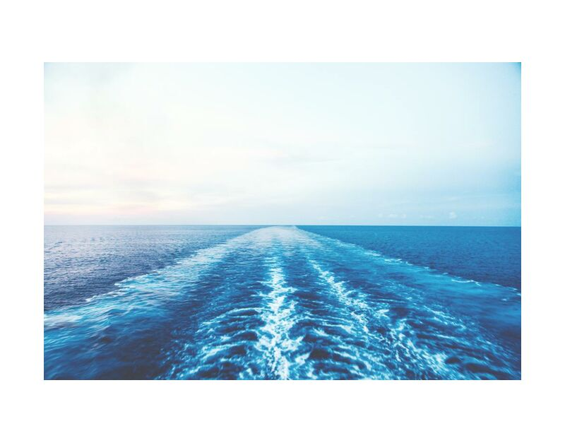 Je trace ma vie de Aliss ART, Prodi Art, wake, sunny, eau, mer, océan, nature, bleu