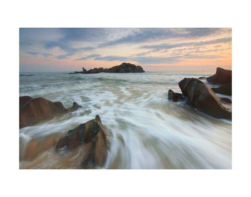 Clouds on Earth from Aliss ART, Prodi Art, sea, beach, dawn, dusk, nature, ocean, rocks, sand, seascape, seashore, sky, sunset, water, HD wallpaper