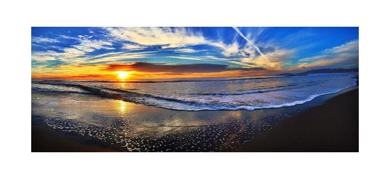 Entre le ciel et la mer from Aliss ART, Prodi Art, beach, dawn, dusk, landscape, nature, ocean, outdoors, sea, seascape, seashore, sky, Sun, sunrise, sunset, water, panoramic