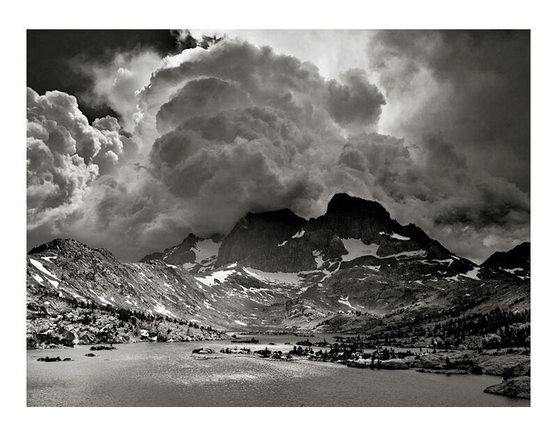 Garnet Lake, California, ANSEL ADAMS desde AUX BEAUX-ARTS, Prodi Art, tormenta, América, Estados Unidos, California, ANSEL ADAMS, lago, montañas, nubes, bosque, árboles, árbol