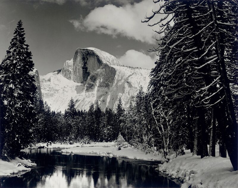Demi-dôme rivière hiver Yosemite ANSEL ADAMS 1938 de Aux Beaux-Arts Decor Image