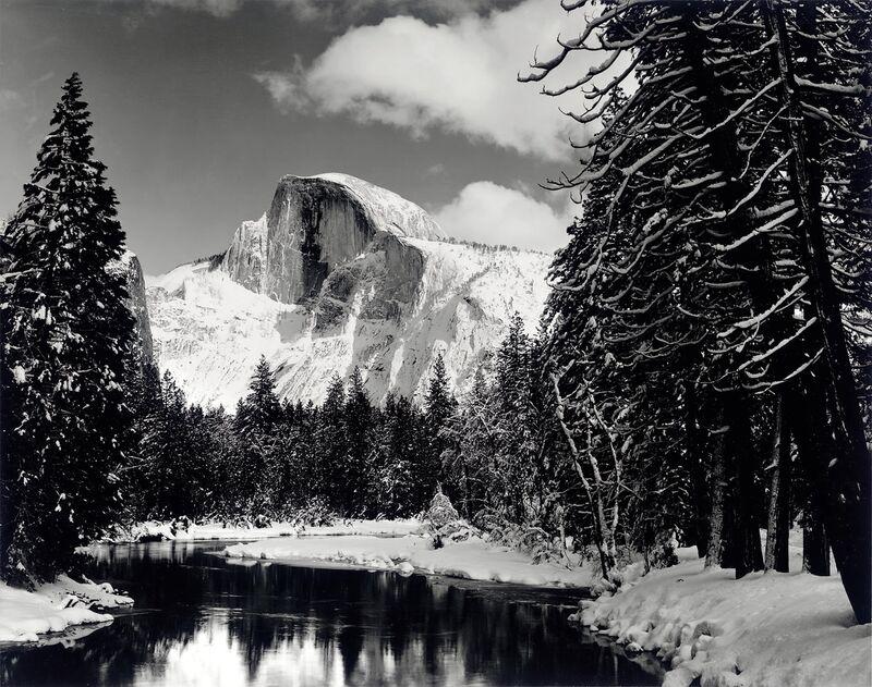 Half dome merced river winter Yosemite ANSEL ADAMS 1938 from AUX BEAUX-ARTS Decor Image
