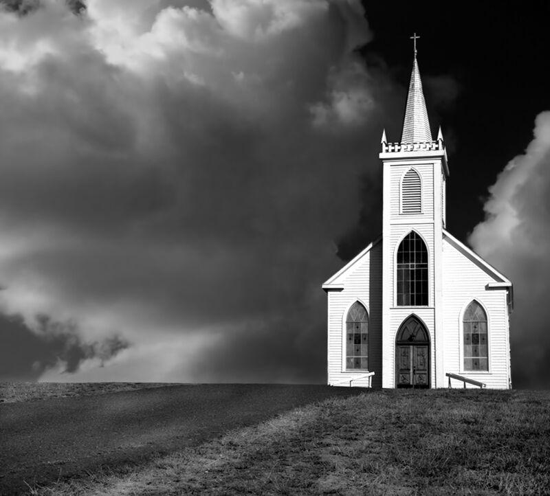 Church picture, ANSEL ADAMS - 1937 desde AUX BEAUX-ARTS Decor Image