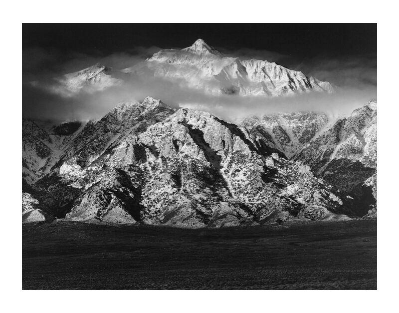 Mountain Williamson, Sierra Nevada - ANSEL ADAMS 1949 desde AUX BEAUX-ARTS, Prodi Art, montañas, cielo, nubes, prado, blanco y negro, ANSEL ADAMS