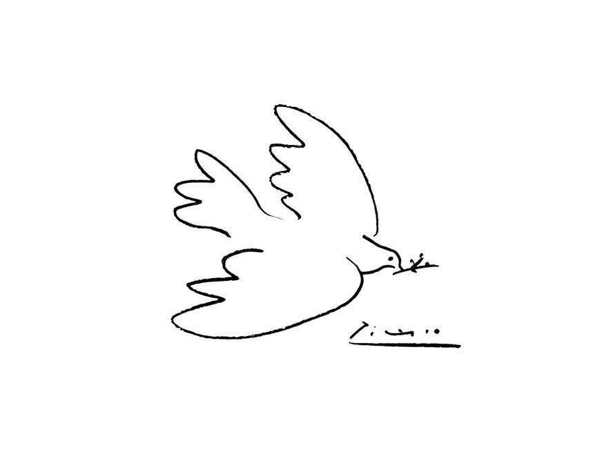 La colombe de paix - PABLO PICASSO de Aux Beaux-Arts, Prodi Art, dessin, colombe, dessin au crayon, PABLO PICASSO