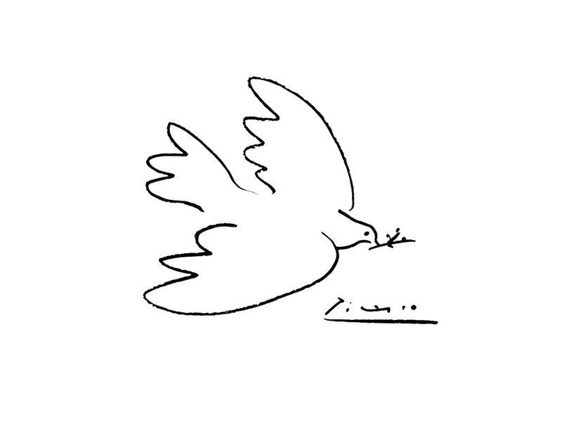 Dove of peace - PABLO PICASSO desde AUX BEAUX-ARTS Decor Image