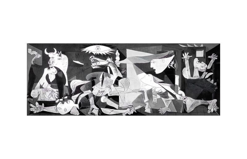 Guernica - PABLO PICASSO desde AUX BEAUX-ARTS, Prodi Art, dibujo, dibujo a lápiz, blanco y negro, PABLO PICASSO