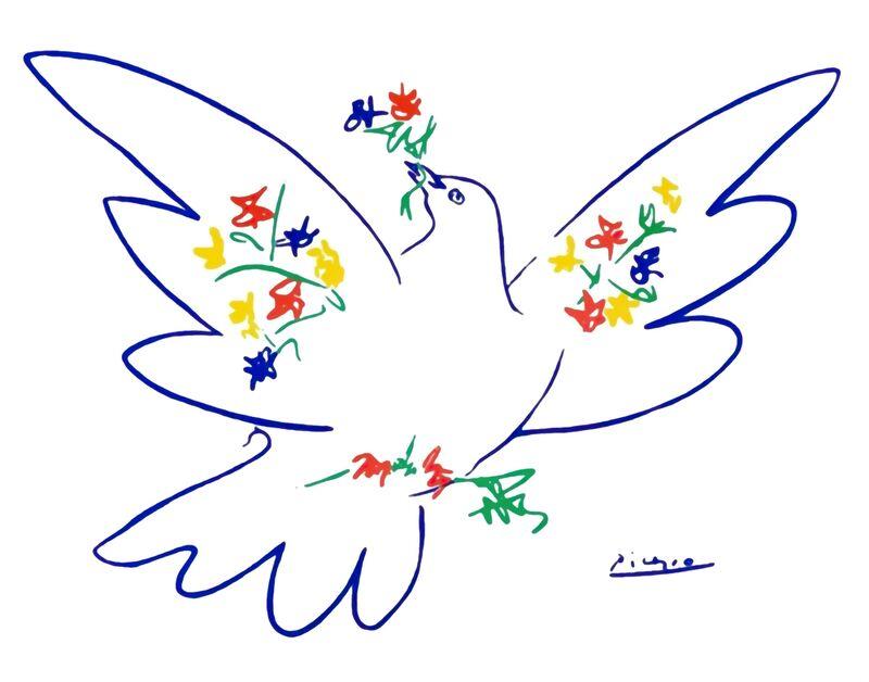 La colombe de paix - PABLO PICASSO de Aux Beaux-Arts Decor Image