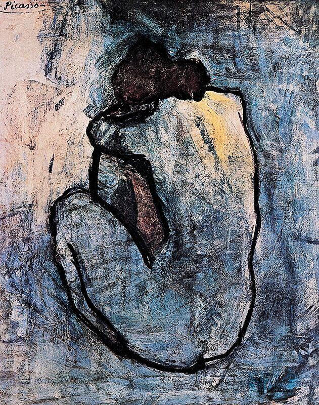 Nu bleu, PABLO PICASSO de Aux Beaux-Arts Decor Image
