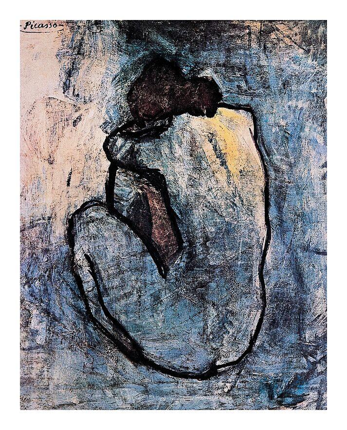 Nu bleu, PABLO PICASSO de AUX BEAUX-ARTS, Prodi Art, nue, bleu, peinture, femme, portrait, PABLO PICASSO